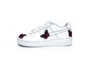 Nike Air Force 1 Embroidery Butterfly Custom