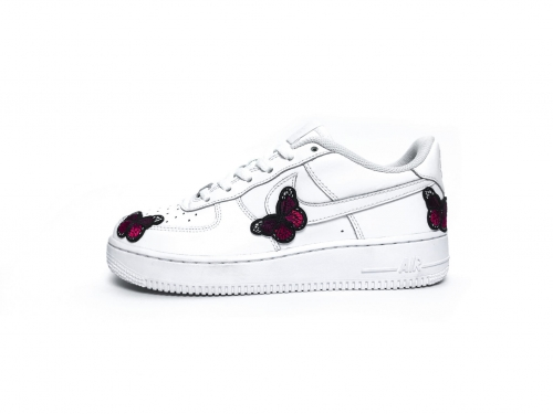 AIR FORCE 1 EMBROIDERY BUTTERFLY CUSTOM