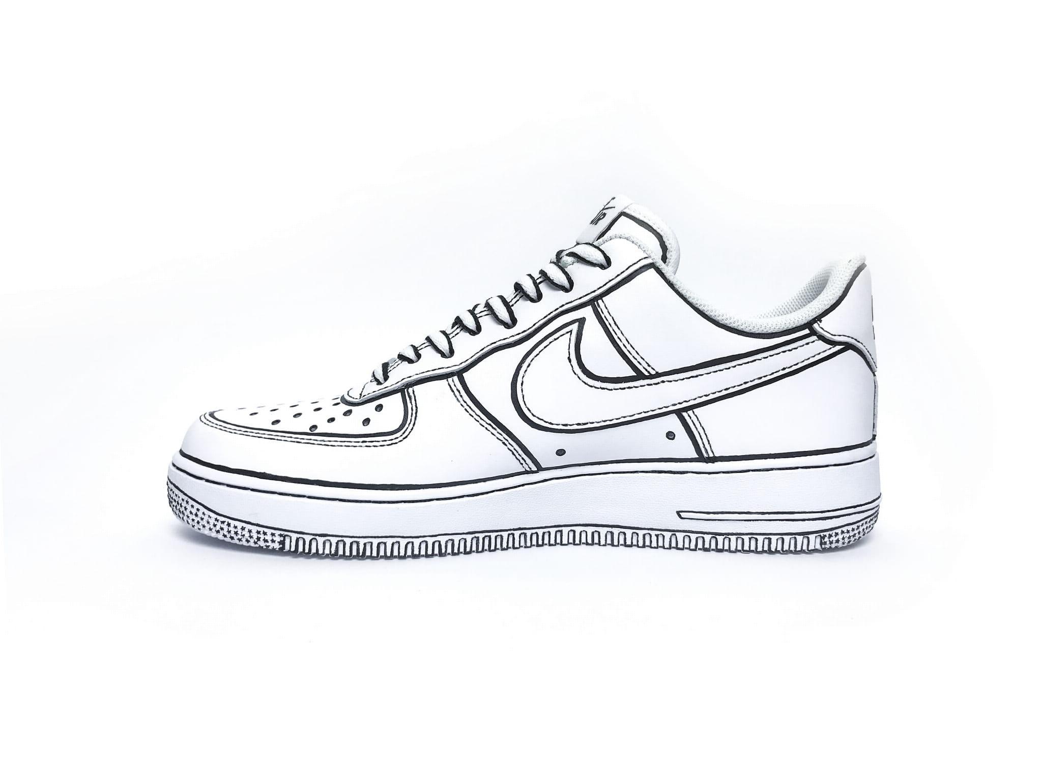 Nike Air Force 1 Black Custom Sneaker | Nike, Buty sportowe